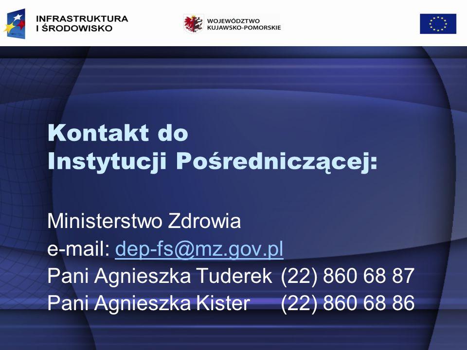 Kontakt do Instytucji Pośredniczącej: