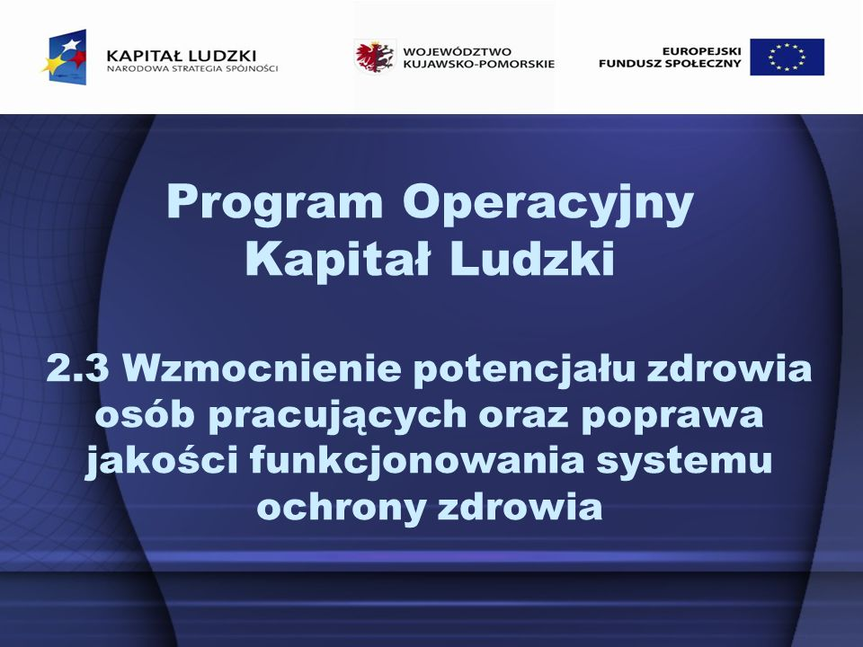 Program Operacyjny Kapitał Ludzki 2