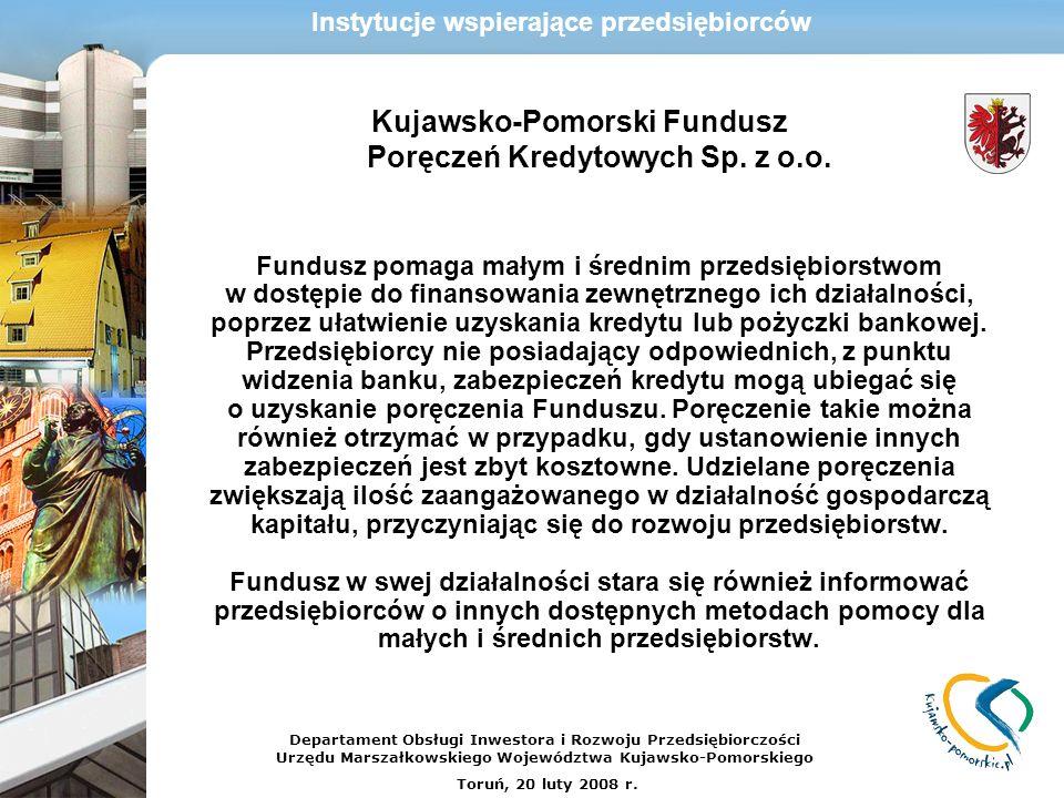 Kujawsko-Pomorski Fundusz Poręczeń Kredytowych Sp. z o.o.