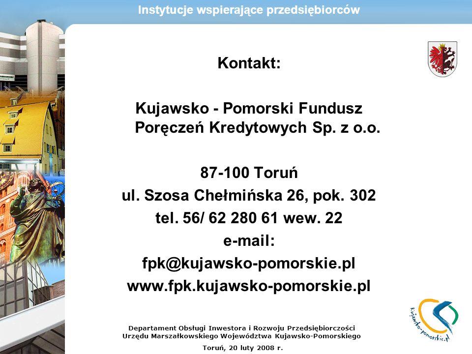 Kujawsko - Pomorski Fundusz Poręczeń Kredytowych Sp. z o.o.