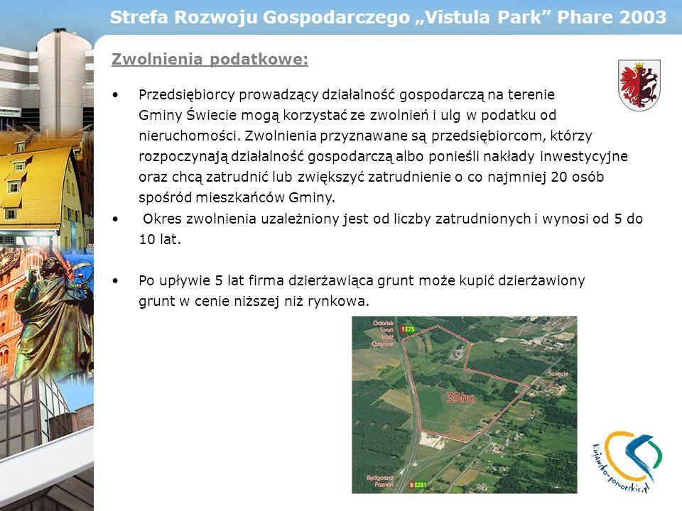 "Strefa Rozwoju Gospodarczego ""Vistula Park Phare 2003"