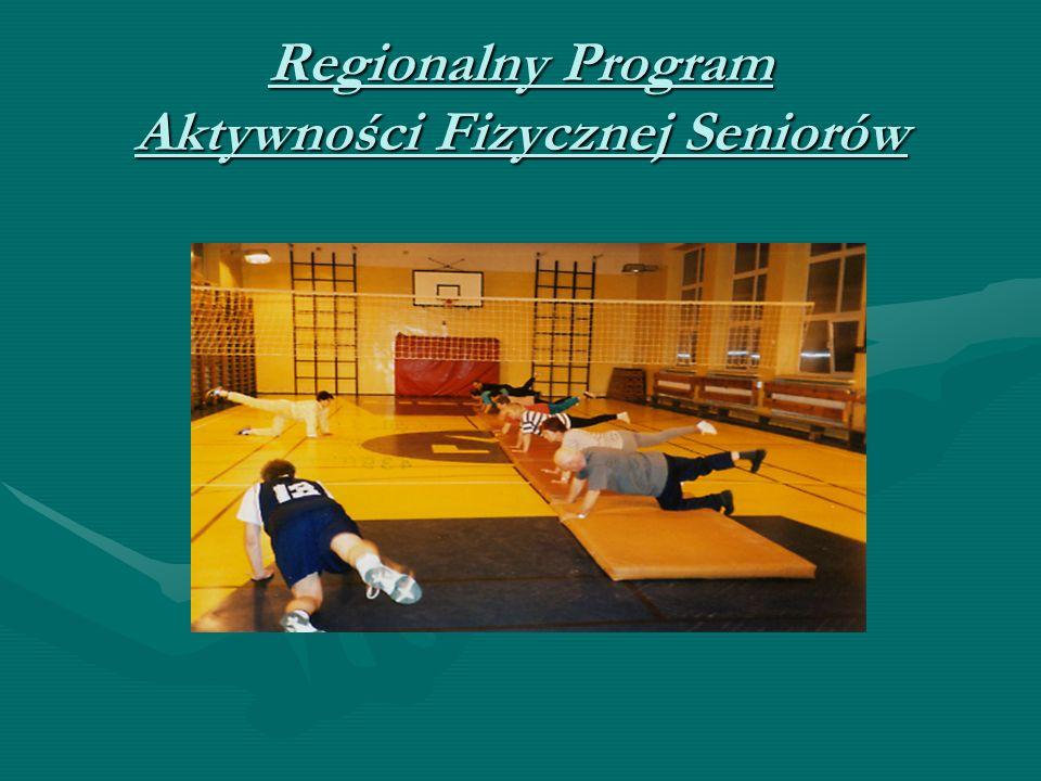 Regionalny Program Aktywności Fizycznej Seniorów