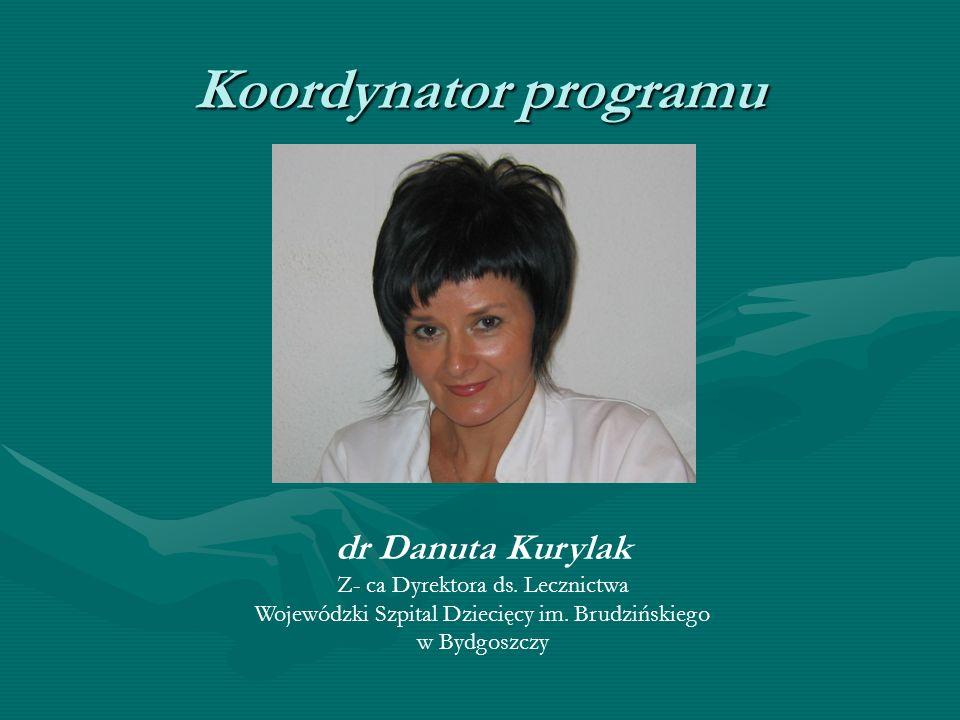 Koordynator programu dr Danuta Kurylak Z- ca Dyrektora ds. Lecznictwa
