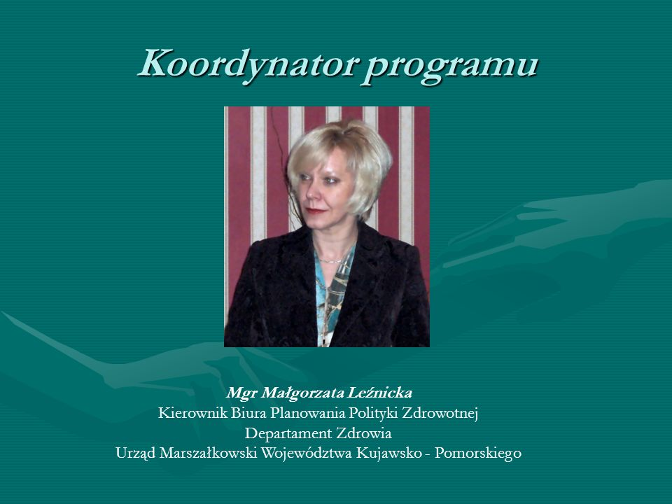Mgr Małgorzata Leźnicka