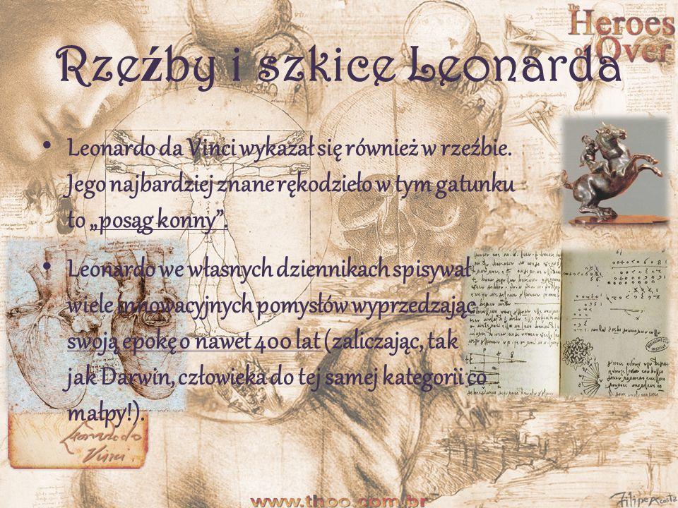 Rzeźby i szkice Leonarda
