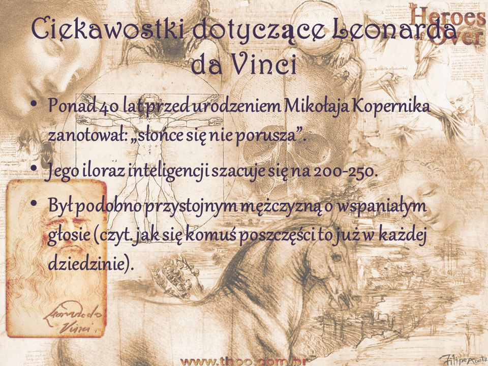 Ciekawostki dotyczące Leonarda da Vinci