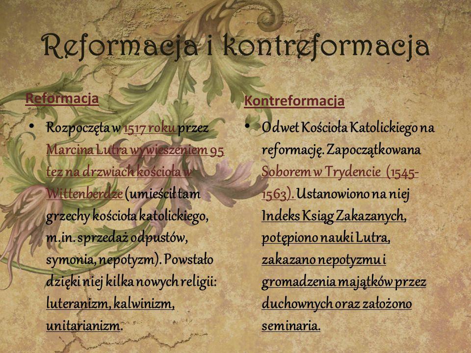 Reformacja i kontreformacja