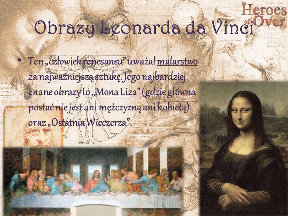 Obrazy Leonarda da Vinci