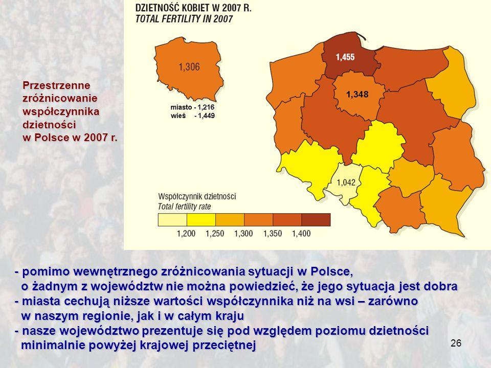 - pomimo wewnętrznego zróżnicowania sytuacji w Polsce,