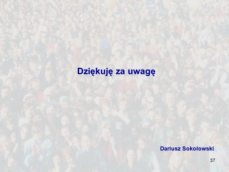 Dziękuję za uwagę Dariusz Sokołowski
