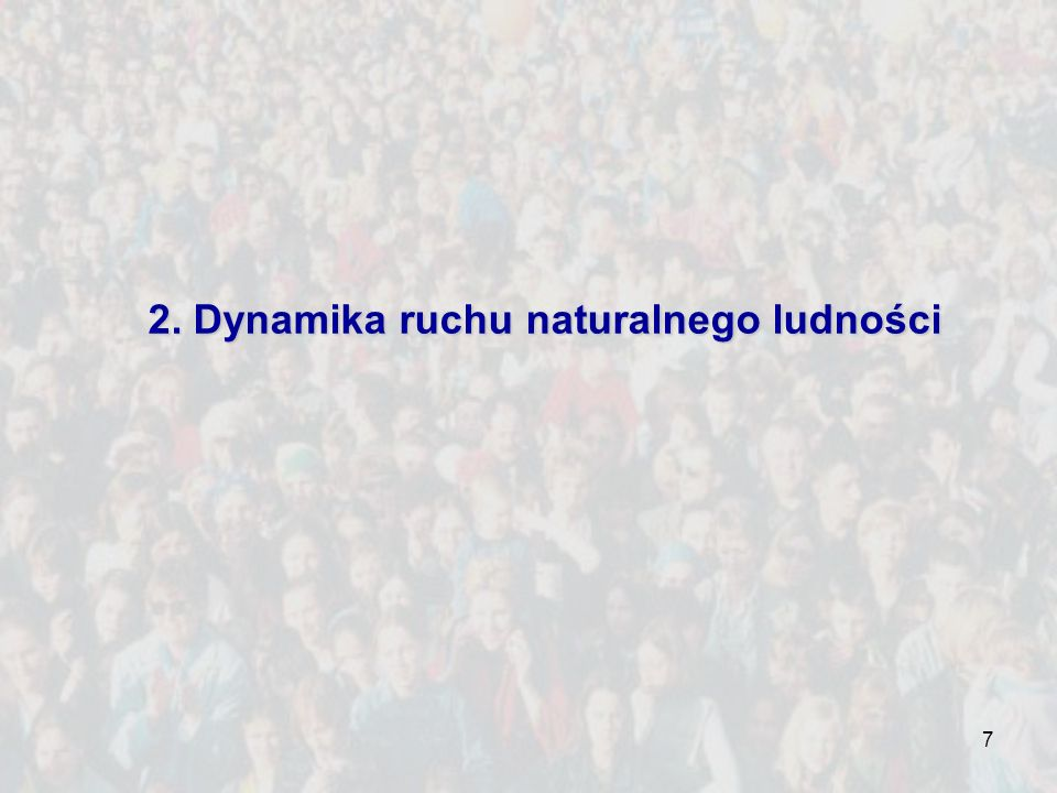 2. Dynamika ruchu naturalnego ludności