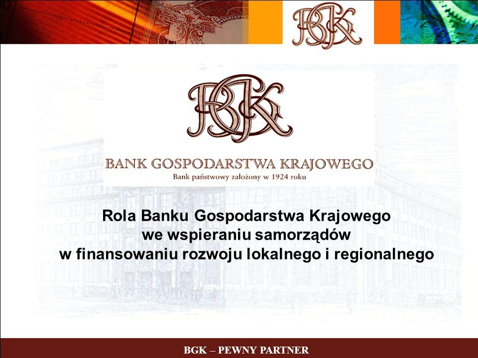Rola Banku Gospodarstwa Krajowego we wspieraniu samorządów