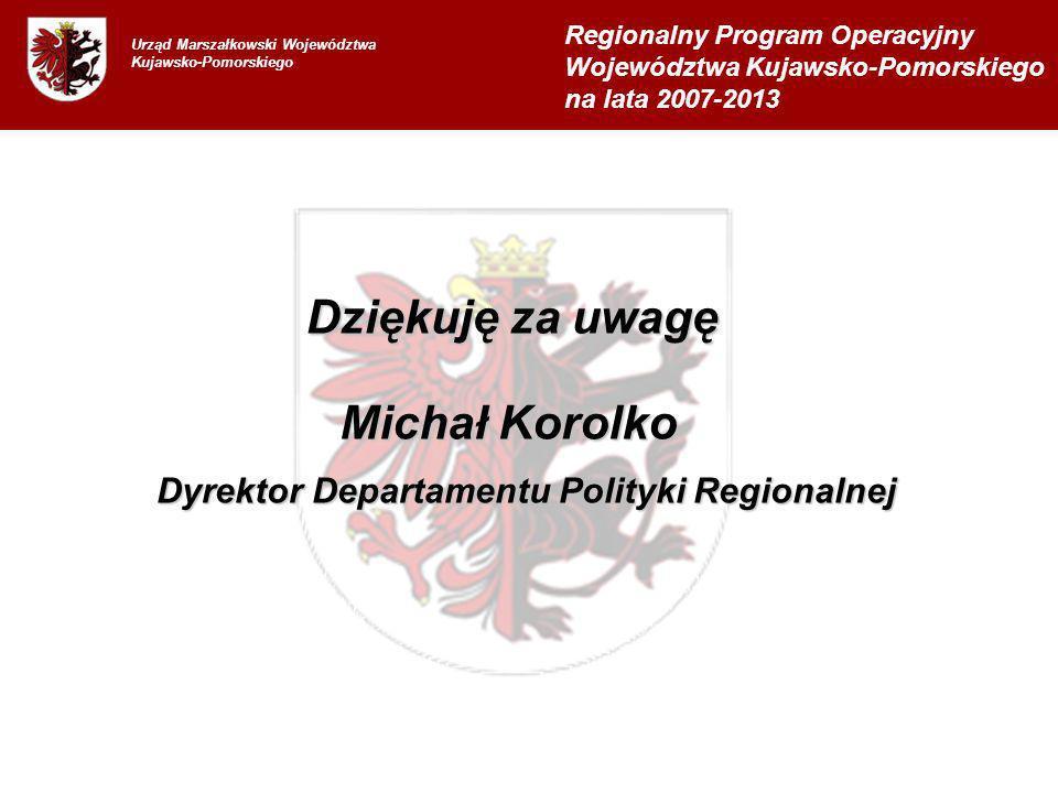 Dziękuję za uwagę Michał Korolko