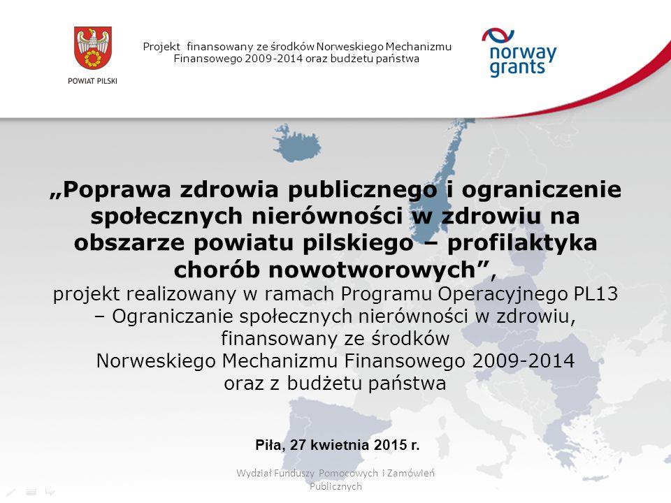 Wydział Funduszy Pomocowych i Zamówień Publicznych