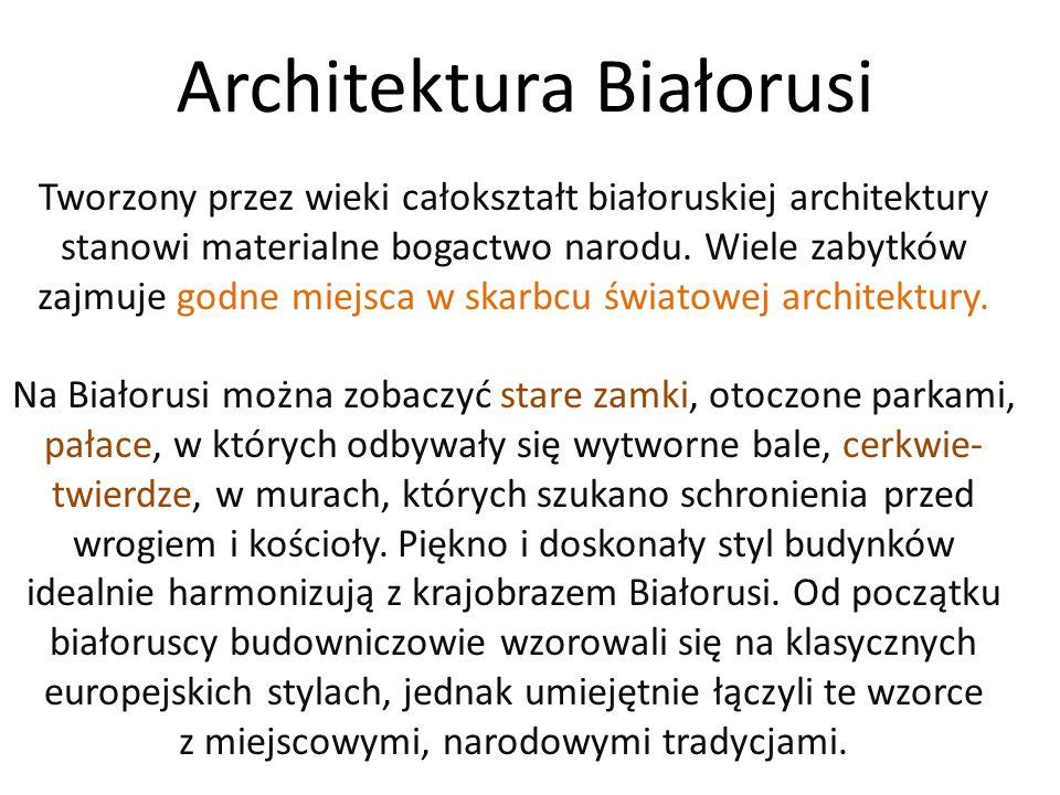 Architektura Białorusi