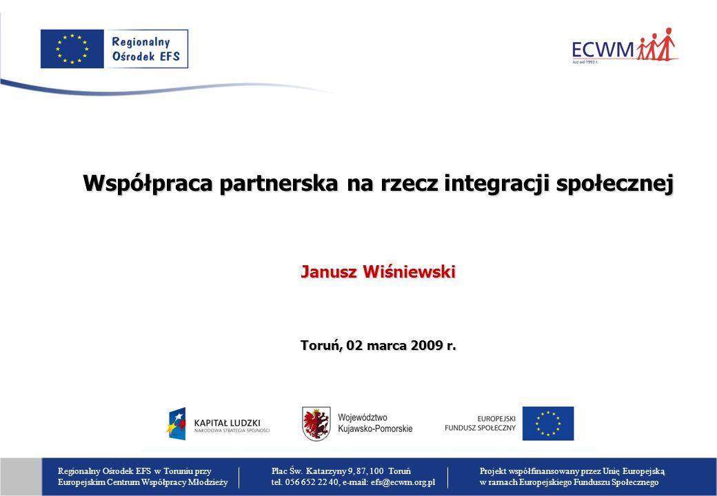 Współpraca partnerska na rzecz integracji społecznej