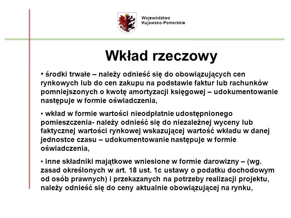 Województwo Kujawsko-Pomorskie. Wkład rzeczowy.