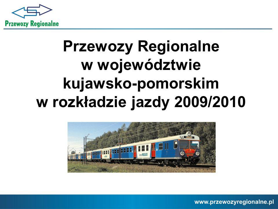 Przewozy Regionalne w województwie kujawsko-pomorskim w rozkładzie jazdy 2009/2010
