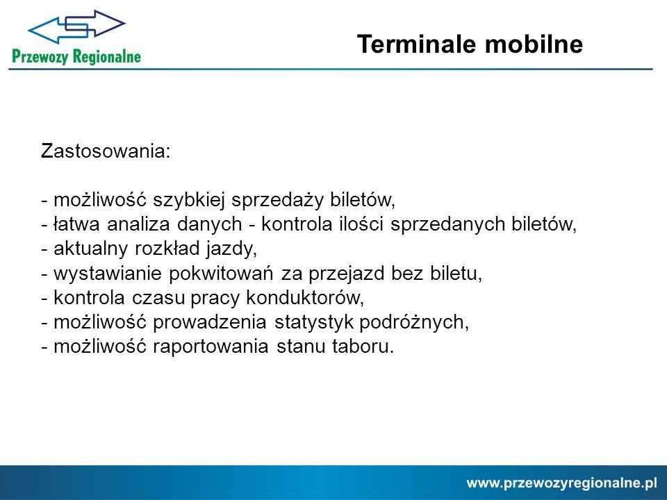 Terminale mobilne Zastosowania: