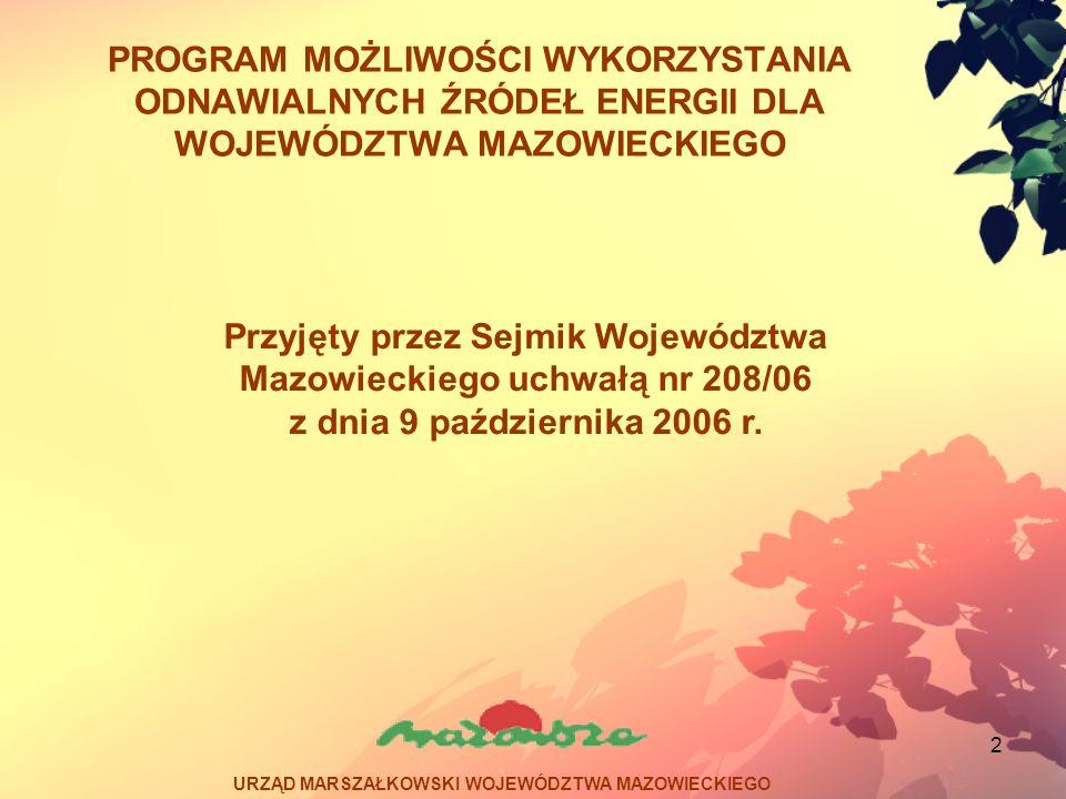 Przyjęty przez Sejmik Województwa Mazowieckiego uchwałą nr 208/06