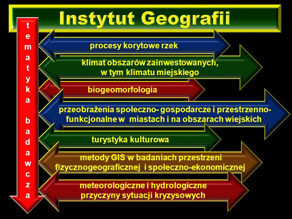 Instytut Geografii tematyka badawcza procesy korytowe rzek