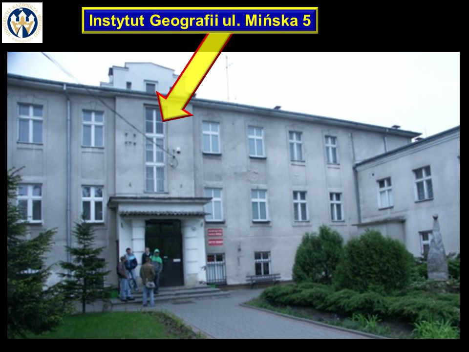 Instytut Geografii ul. Mińska 5