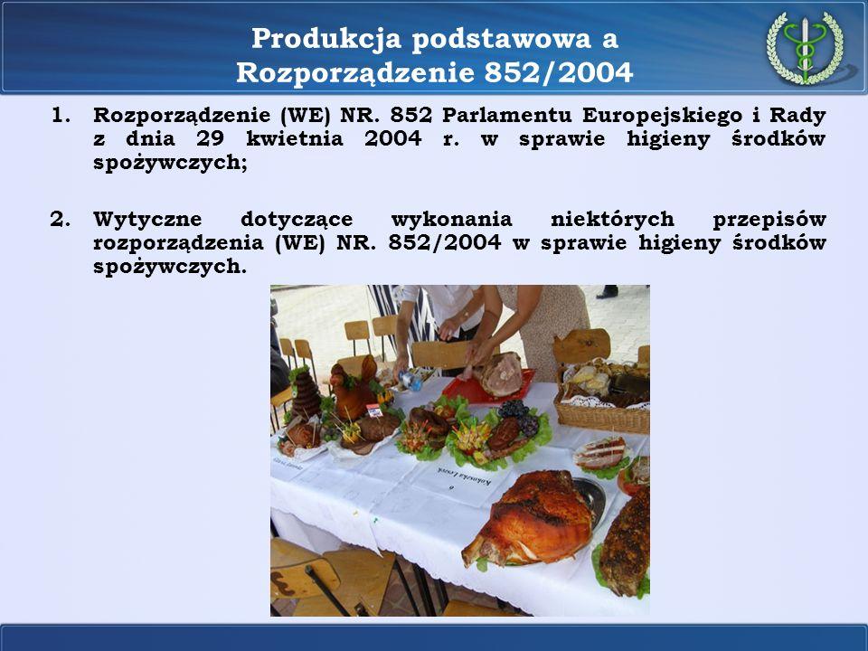 Produkcja podstawowa a Rozporządzenie 852/2004