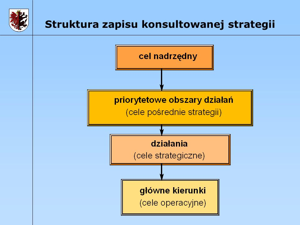 Struktura zapisu konsultowanej strategii