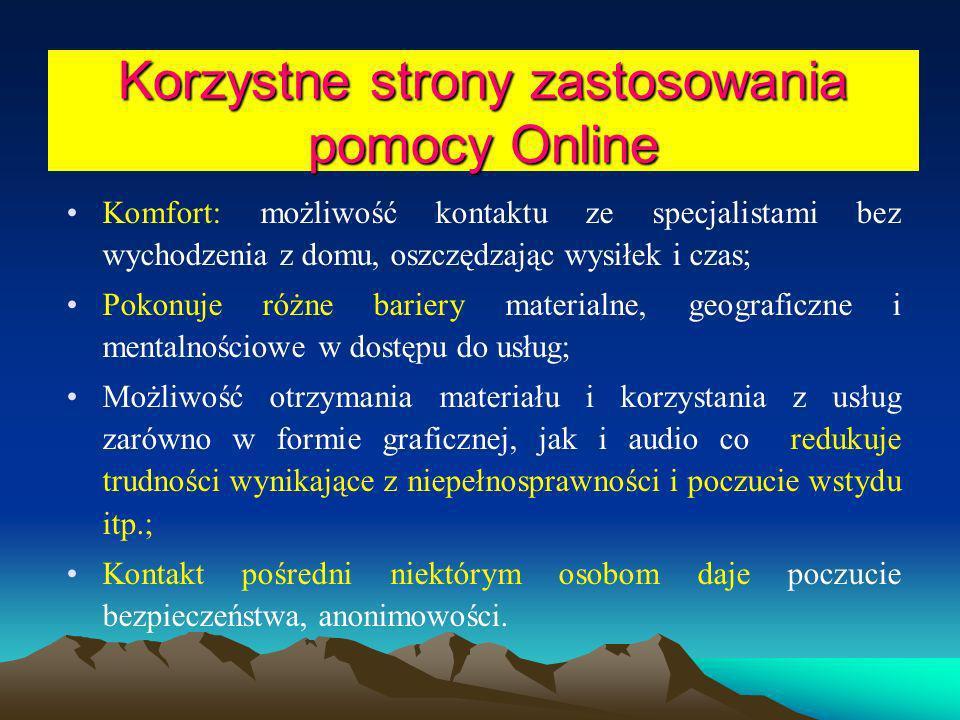 Korzystne strony zastosowania pomocy Online