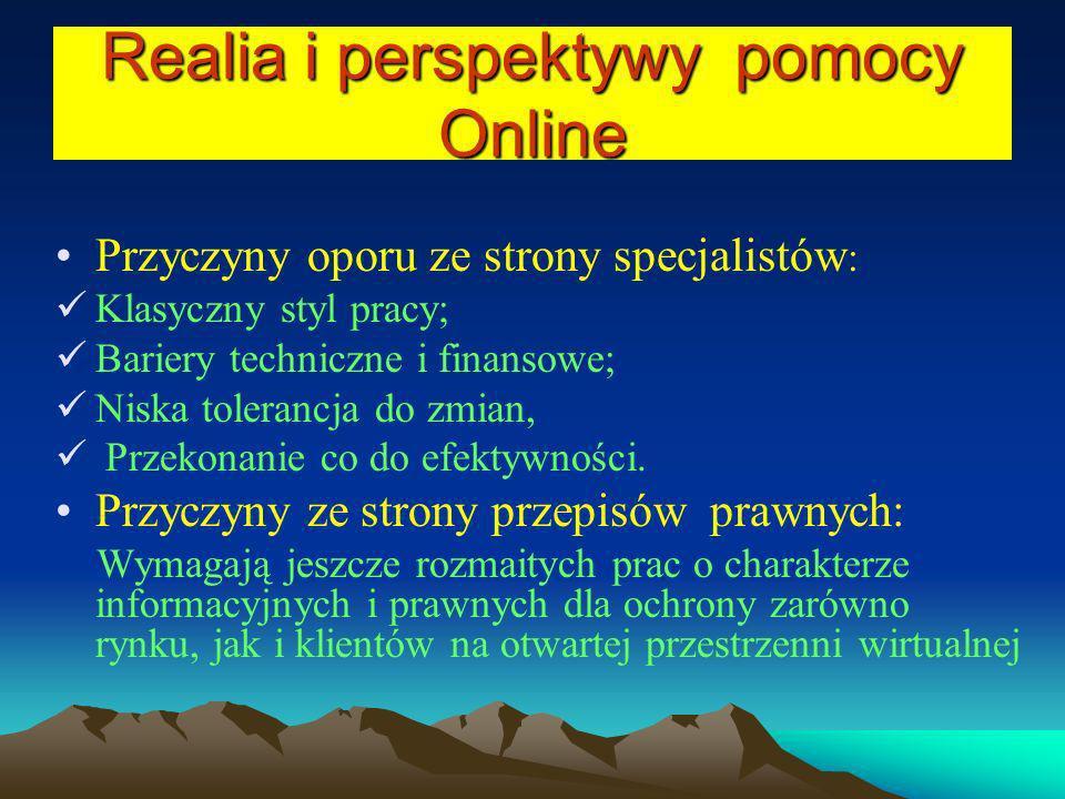 Realia i perspektywy pomocy Online