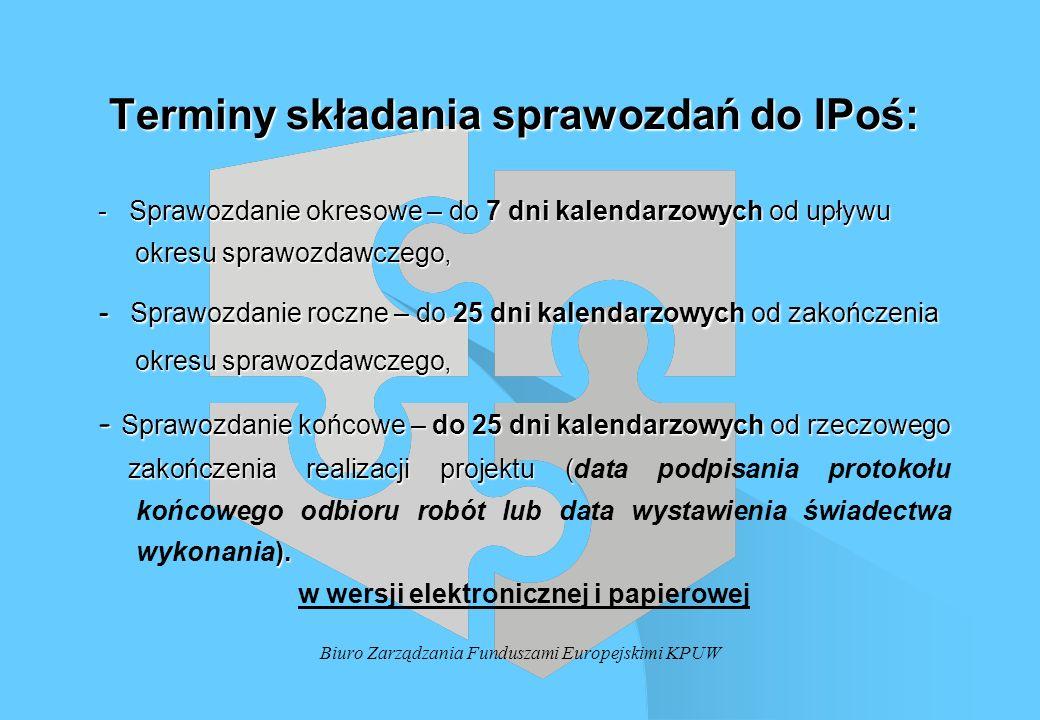 Terminy składania sprawozdań do IPoś: