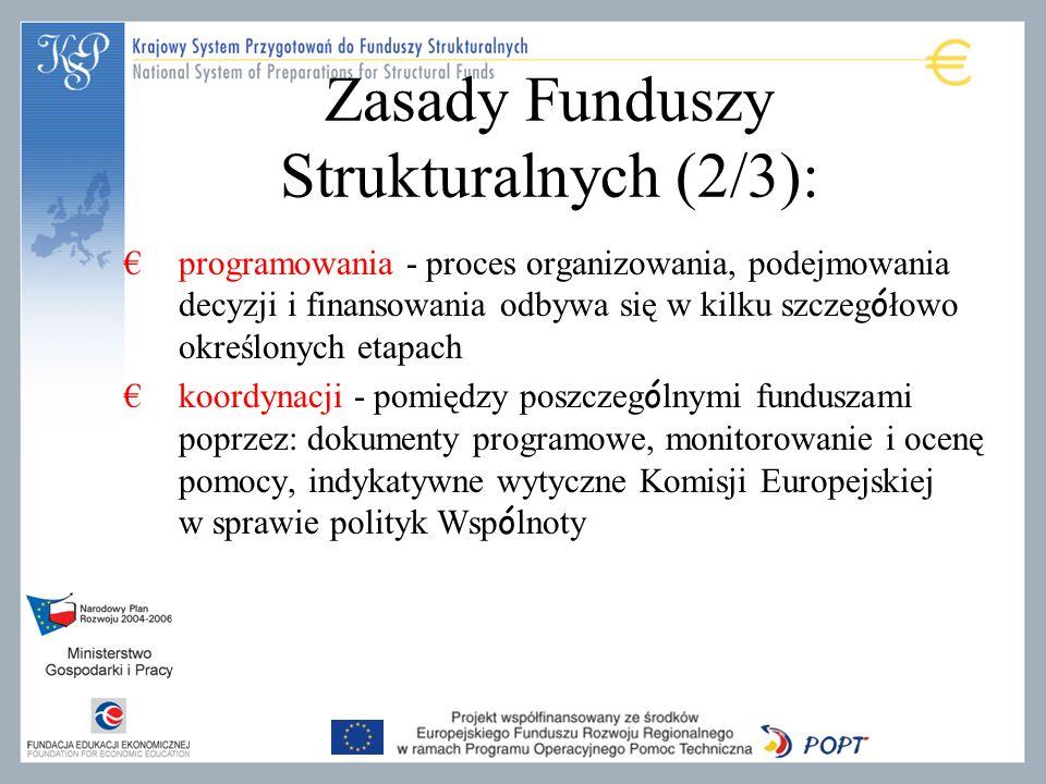 Zasady Funduszy Strukturalnych (2/3):