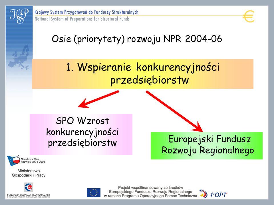 Osie (priorytety) rozwoju NPR 2004-06