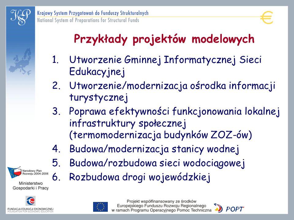 Przykłady projektów modelowych