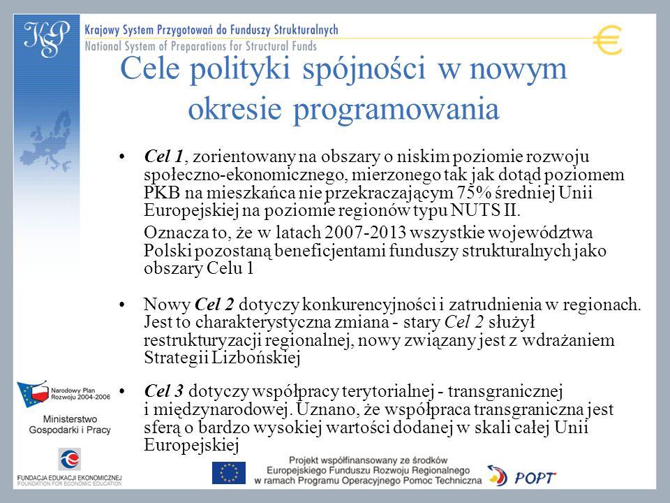 Cele polityki spójności w nowym okresie programowania