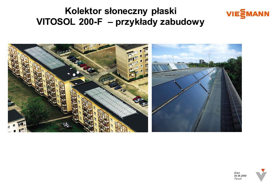 Kolektor słoneczny płaski VITOSOL 200-F – przykłady zabudowy