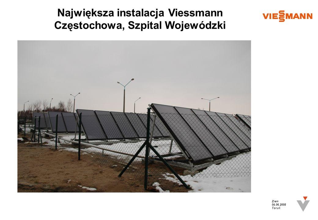 Największa instalacja Viessmann Częstochowa, Szpital Wojewódzki