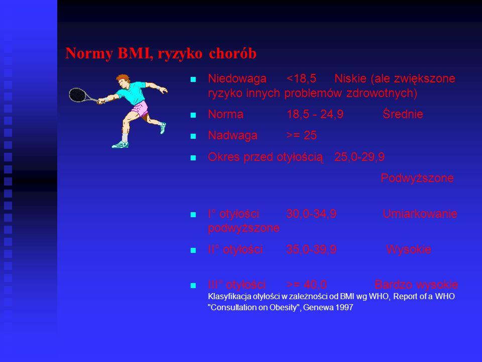Normy BMI, ryzyko chorób