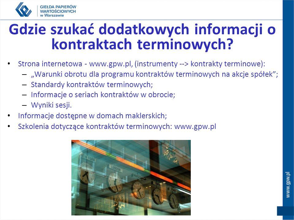 Gdzie szukać dodatkowych informacji o kontraktach terminowych