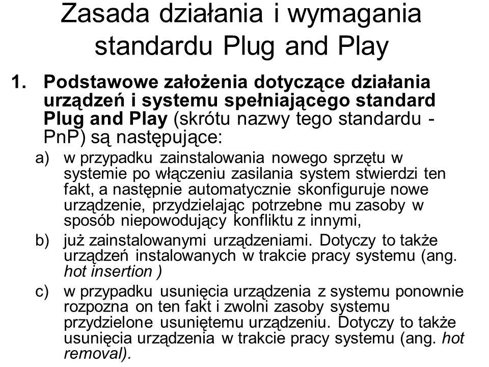 Zasada działania i wymagania standardu Plug and Play