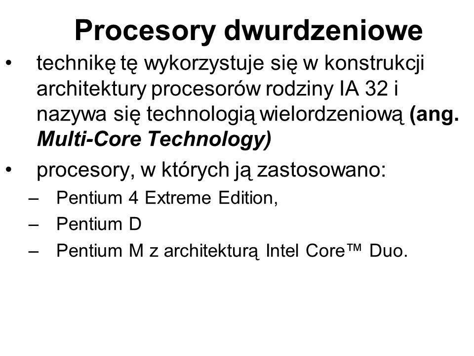 Procesory dwurdzeniowe