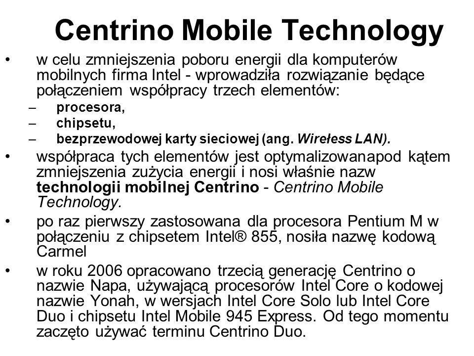 Centrino Mobile Technology