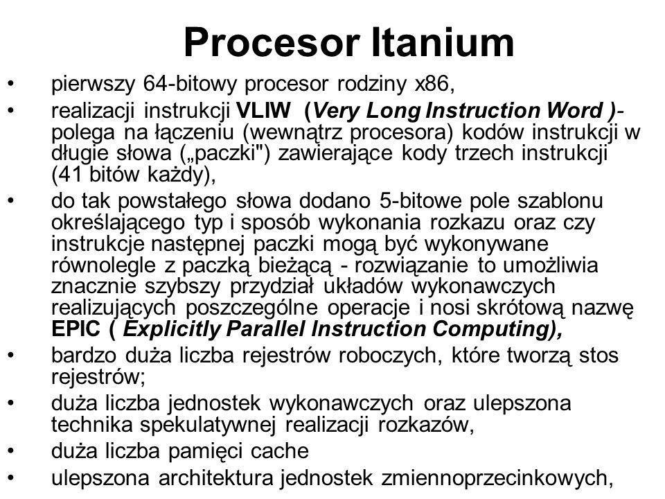 Procesor Itanium pierwszy 64-bitowy procesor rodziny x86,