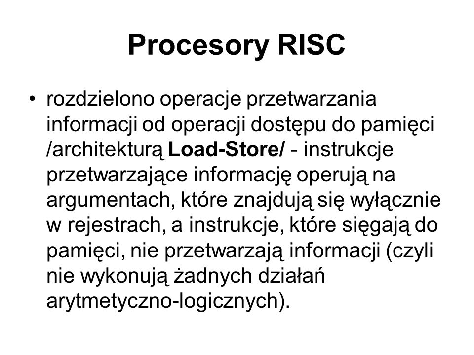 Procesory RISC
