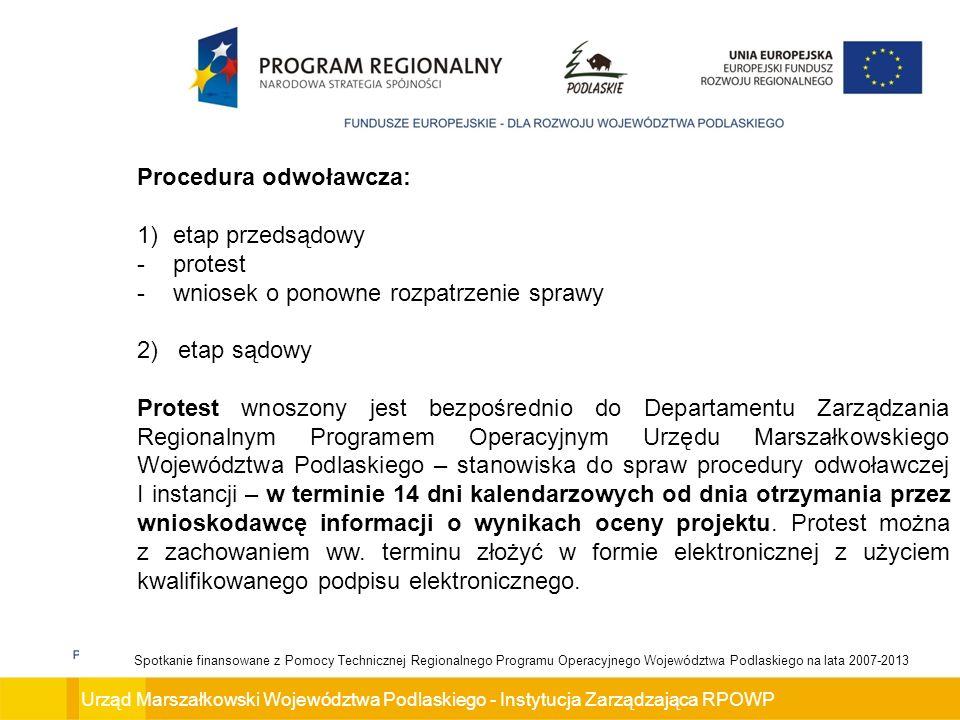 Procedura odwoławcza: etap przedsądowy protest