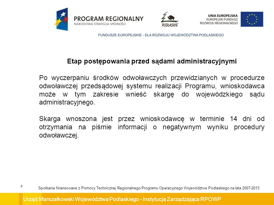 Etap postępowania przed sądami administracyjnymi