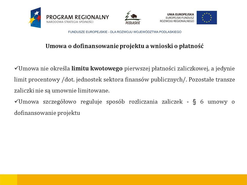 Umowa o dofinansowanie projektu a wnioski o płatność