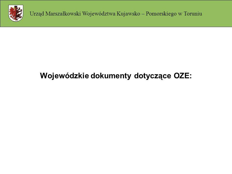 Wojewódzkie dokumenty dotyczące OZE: