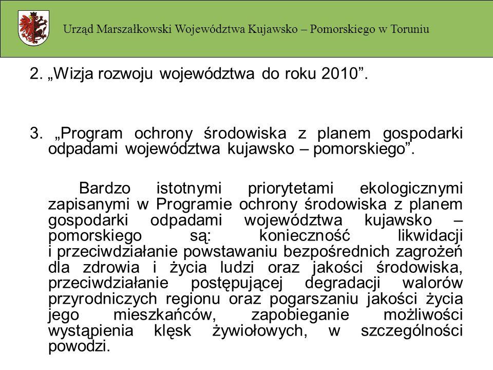 """2. """"Wizja rozwoju województwa do roku 2010 ."""