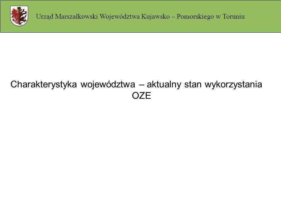 Charakterystyka województwa – aktualny stan wykorzystania OZE